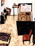 Schiele's Living Room in Neulengbach by Egon Schiele