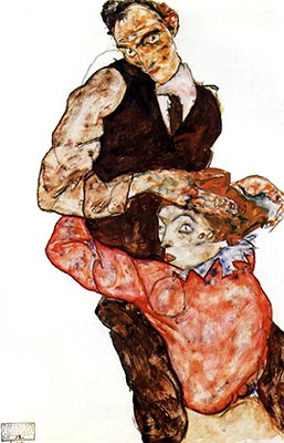 Lovers, 1914/15 by Egon Schiele</div>