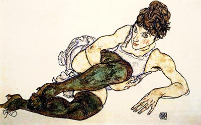 Adele Harms by Egon Schiele</div>