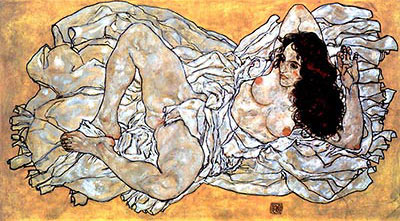 Lying Woman by Egon Schiele</div>