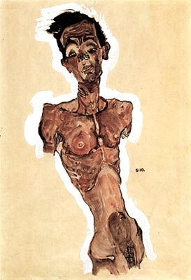 Nude, Self Portrait, 1910 by Egon Schiele</div>