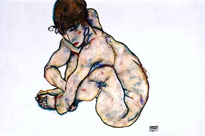 Sitting Nude by Egon Schiele</div>