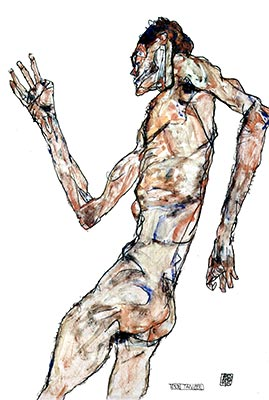 The Dancer, 1913 by Egon Schiele</div>