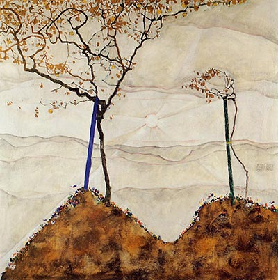 Autumn Sun I, 1912 by Egon Schiele</div>