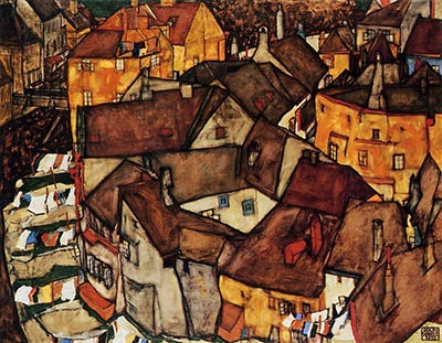 Krumau Town Crescent I (aka Edge of Town), 1915 by Egon Schiele</div>