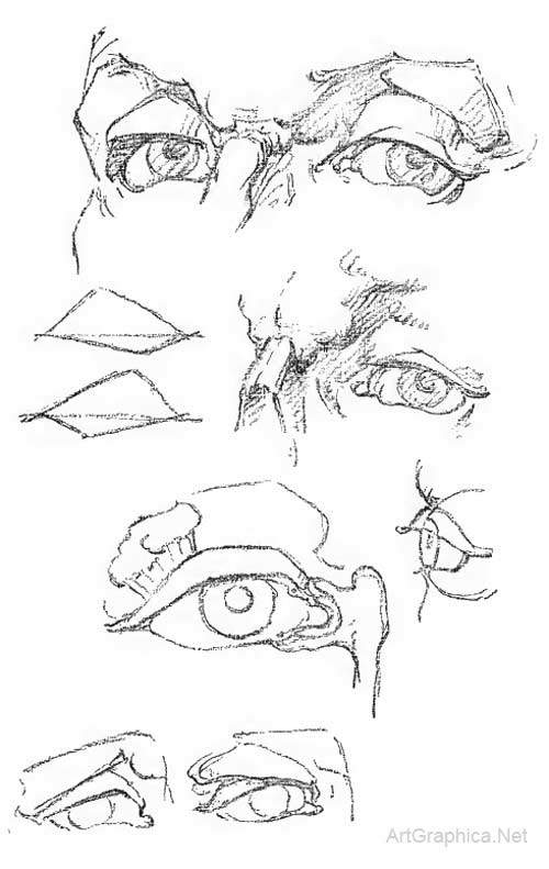 constructive anatomy george bridgman drawing eyes ears mouth and nose