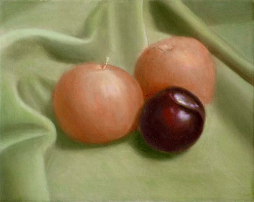 oil painting glazing, glazing techniques, painting fruit