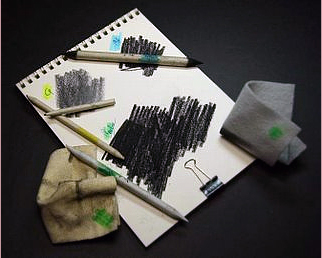 drawing with carbon