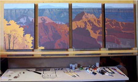 grand canyon oil painting art lesson