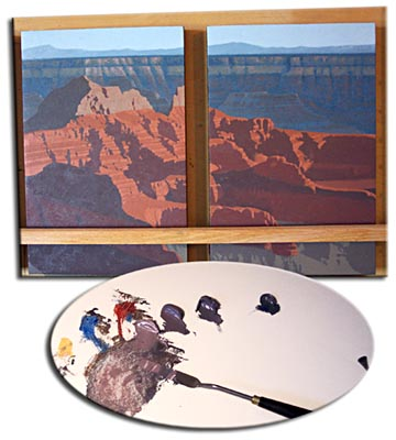painting the canyon, palette