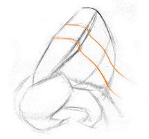 ponte do nariz, anatomia do nariz e da arte, demonstração de arte