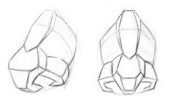 desenho de um nariz três dimensional, nariz em 3d, como desenhar o nariz