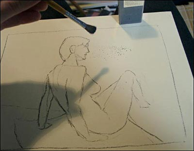 female nude, draw people