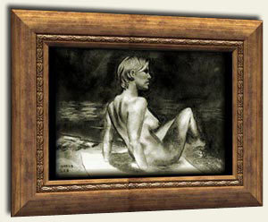 drawing the female figure, nude, charcoal art lesson free
