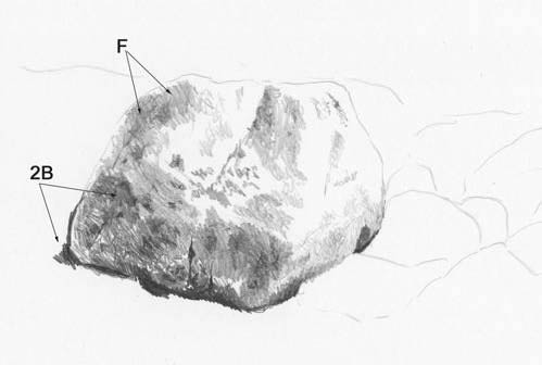 drawing rock texture
