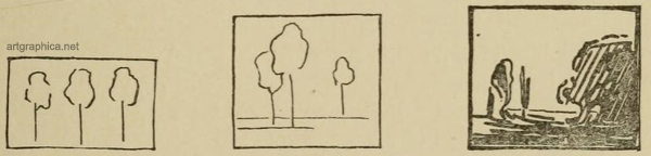 light and shade, tree drawing