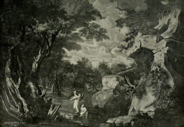 tobit and the angle, salvatore rosa, trees and art
