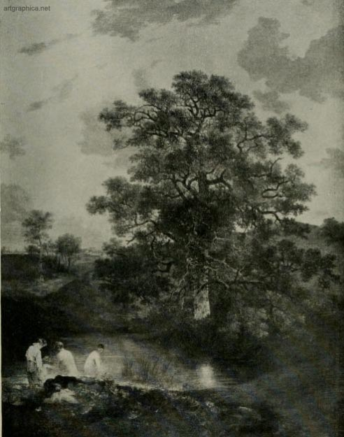 the porringland oak, john crome, tree painting