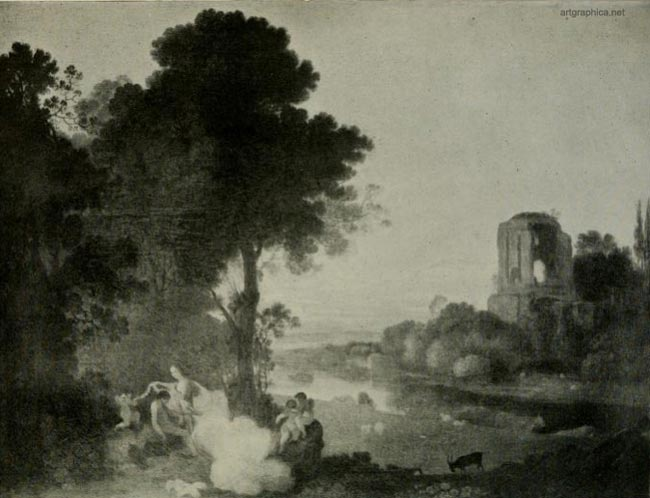landscape with venus and adonis, richard wilson, tree art