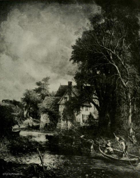 the valley farm, john constable, trees and art