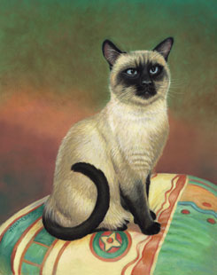 cat painting, how to paint a cat