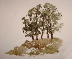 how to paint tree cluster