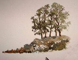 painting a group of trees