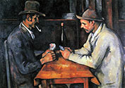 Paul Cezanne, impressionist artist, Two Card Players
