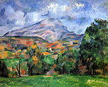 the impressionists, paul cezanne art, Montaigne Saint Victoire