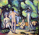 the impressionists, paul cezanne art, Bathing