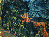 the impressionists, paul cezanne art, Chateau Noir