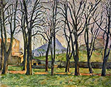 the impressionists, paul cezanne art, Chestnut-trees in the Jas de Bouffan