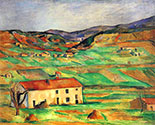 the impressionists, paul cezanne art, Gardanne Landscape