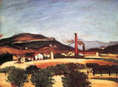 the impressionists, paul cezanne art, Factories near Mont de Cengle
