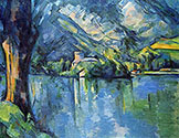 the impressionists, paul cezanne art, Lake of Annecy