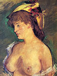 Edouard Manet painting, art canvas, Blonde Woman with Bare Breasts