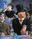 Edouard Manet painting, art canvas, Cafe Concert