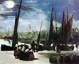 Edouard Manet painting, art canvas, Moolight in Boulogne