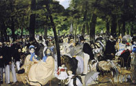 Edouard Manet painting, art canvas, The Concert in the Tuilerien
