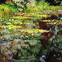 impressionist canvas art, Water Lily Pond