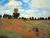 wild poppies at argentueil, claude monet
