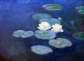 Water Lilies, impressionist canvas art, painting