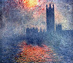 The parliament in London, impressionism, impressionists