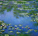 impressionist canvas art, Water Lilies, Claude Monet