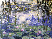 impressionist canvas art, painting, Water Lilies