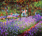 impressionist canvas art, painting, Monet's garden Giverny