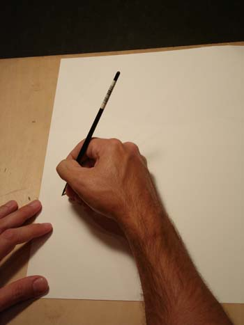 draw with arm not wrist, pen ink lesson