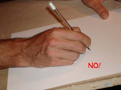 pen drawing, how to hold a pen