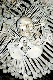 bone art arrangement, sedlec ossuary