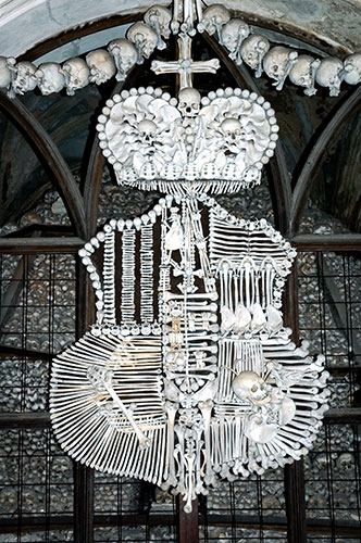 Schwarzenberg's Coat of Arms., sedlec ossuary, bone church, chapel photograph